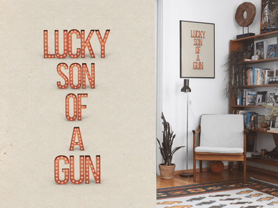 Lucky Son of a Gun lucky art illustration design typeface font type marquee texture typography