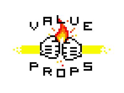 Value Props cursor illustration icon props flame value fist rainbow fire pounds pixels