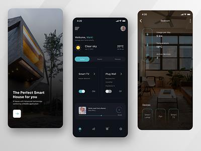 Smarthome App Exploration design ux ui app mob