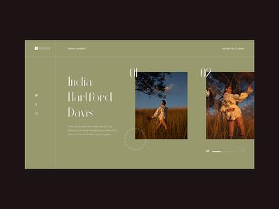 Photographer's Magazine - Website Concept design typography ui ux