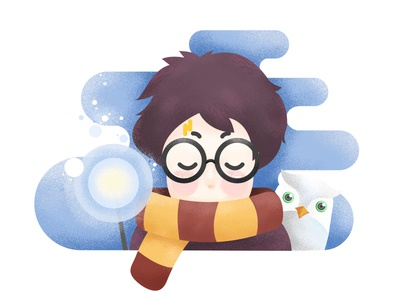 Harry Potter flat harrypotter 2d cute potter harry design illustration