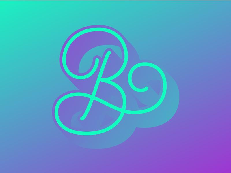B - Alphabet Challenge blend trippy typography lettering