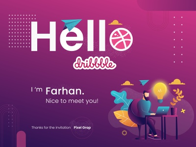 Hello Dribbble!! ui hellodribble hellodribbble