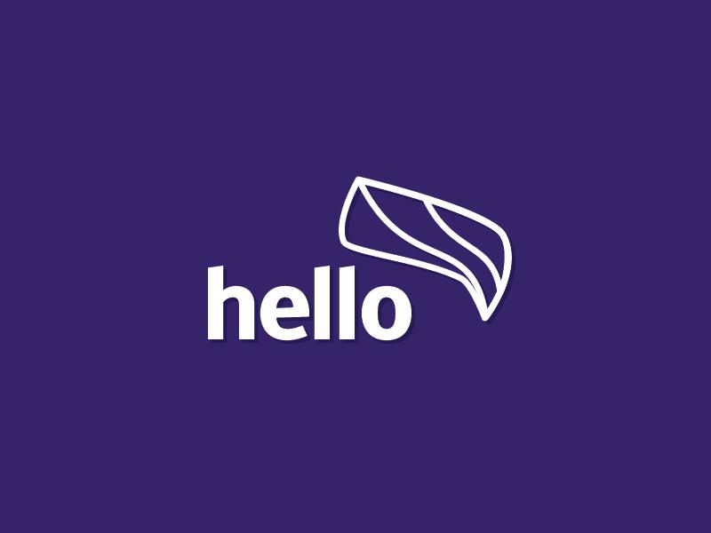 Hello! branding wip logo