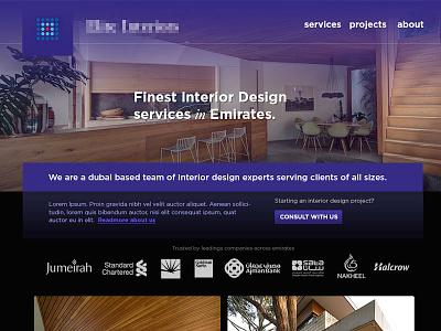 Design for a Interior design firm drupal interior design app dubai india emirates luxury web theme