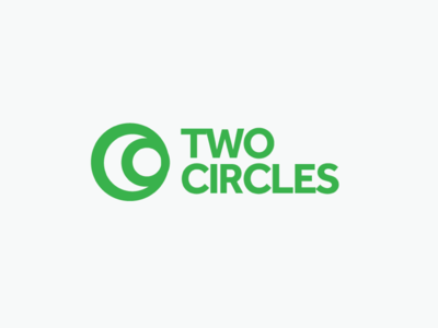 Two Circles cresent circles logo branding green