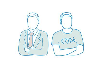 Developer & Finance Guy team people code coder exec finance bangalore tshirt flat developer guy tie