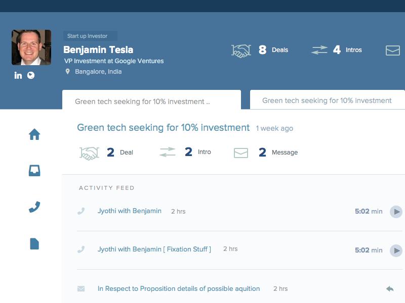 CRM UI Design crm ui app web