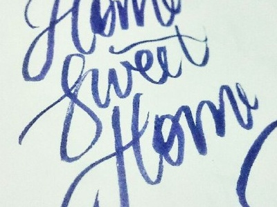 Lettering Practise  brushpen home lettering practise