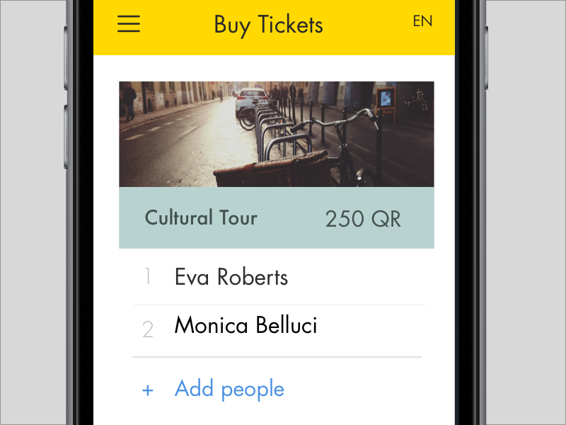 Ticketing screen ios qatar city travel booking tickets