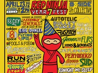 Red Ninja Year 7 Fest Poster