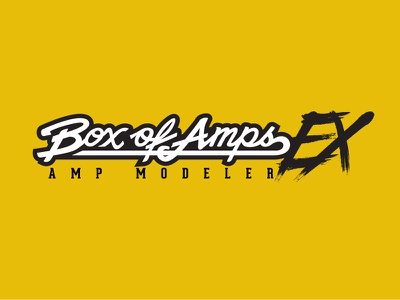 Box of Amps EX custom lettering logotype logo lettering artist hand lettering lettering