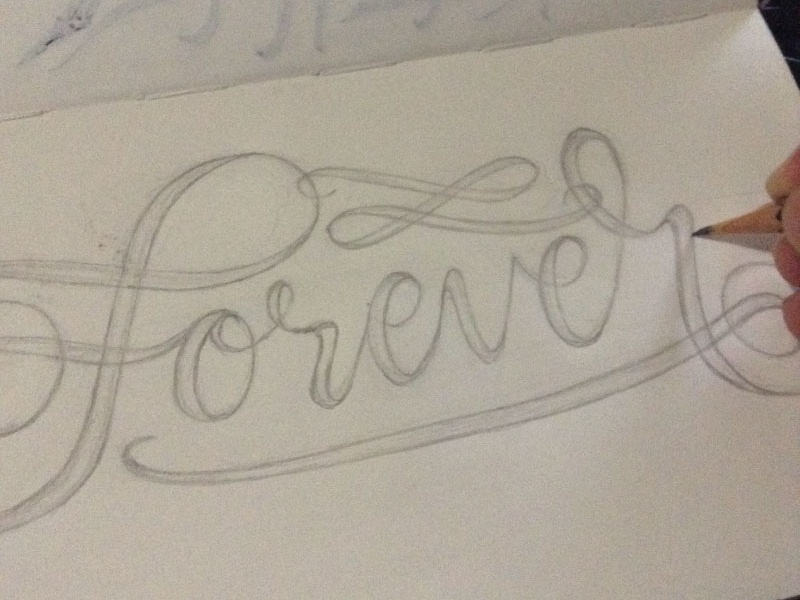 Forever lettering sketch by regie bariuan dribbble forversketchshot altavistaventures Choice Image