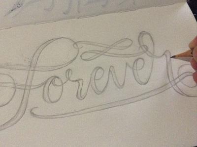 Forever Lettering Sketch process sketch custom lettering lettering artist hand lettering lettering
