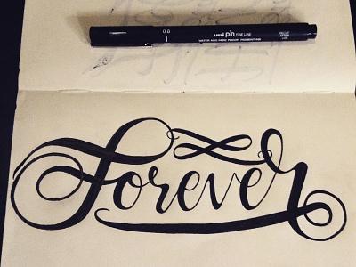 Forever Lettering Inked inked process sketch custom lettering lettering artist hand lettering lettering