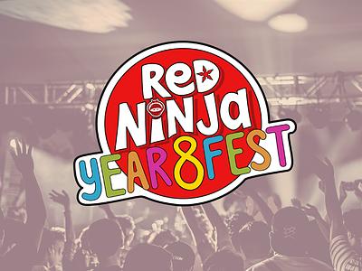 #RedNinjaYear8Fest Logo custom typography logo design event branding typography lettering branding logo handlettering