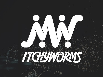 Itchyworms Logo logo design hand drawn type custom typography custom type branding vector logotype logo lettering handlettering