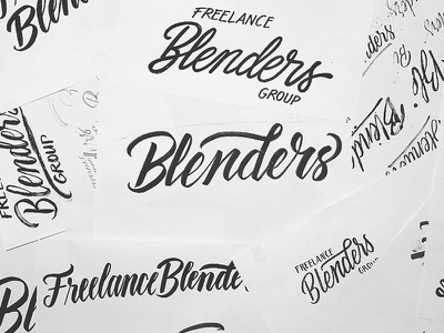 Blenders Logotype Sketches explorations sketch brush lettering lettering logotype logo design