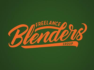 Freelance Blenders Group Logo vector brush lettering lettering logotype logo design