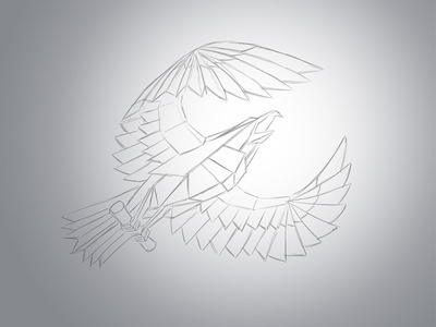 Paper eagle quill icon wing make of japan paper bird eagle origami logo logotype sign