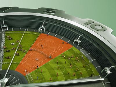 Virtual Better - 5 mins - Key visual sport ball creative advertising soccer horse race watch tennis betting idea gaming