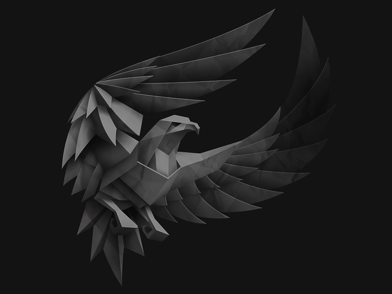 Paper Eagle Making Of By Anton Egorov On Dribbble