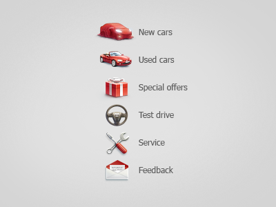 Icons for Mazda dealer car icons message letter envelope cabriolet mazda micro gift red cover present wheel wrench screwdriver spanner