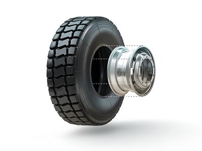 Tire & Wheel Icon Illustration icon 3d tire wheel illustration isolated