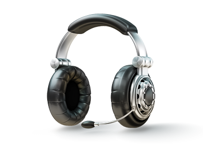 Headset Icon 3d Illustration 3d icon chrome wheel tire headset illustration microphone isolated