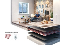 Underfloor Heating 3D Infographic