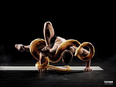 Totem - 6 sports flexibility yoga python snake mascot spirit animal