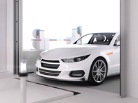 360° Car Scanning System movie 3d motion animation infographic white scanner scanning technology automotive auto car