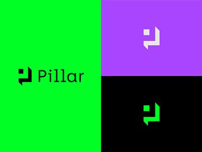 Pillar Logo pillar wallet app wallet crypto logotype designer logo designer logo design logomark logotype brand identity vector branding logo