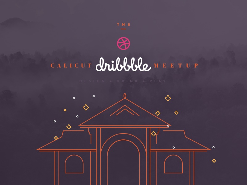 Calicut Dribbble Meetup cyberpark ux uidesign illustration meetup kozhikode calicut