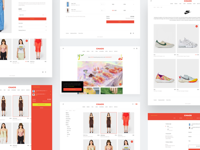 Chaos Concept Store — All pages shoes clothes simple colors real product ux ui design site website