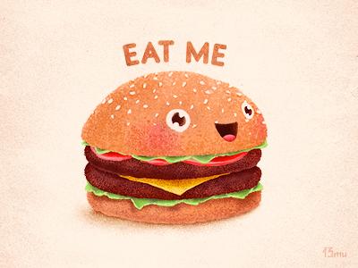 Burger meat burger hamburger food fastfood smile tomato bread cheese