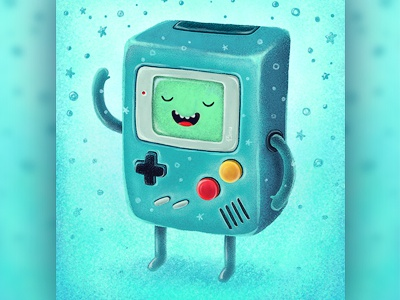 Game Beemo illustration 13mu smile hi bmo adventure time game beemo console gameboy