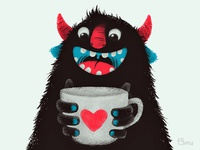 Demon with cup