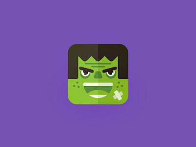 Hulk2 plaster fun icon illustration monster green comics superhero 13mu hulk