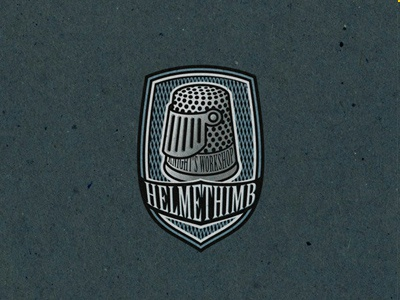 Helmethimb shield helmet thimble logo chain armour visor 13mu helm