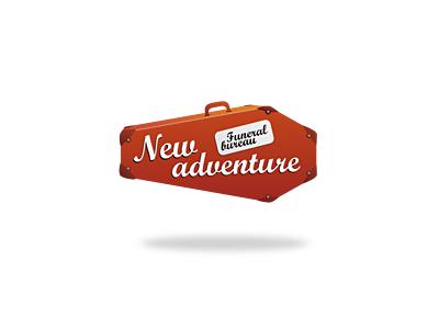 New Adventure adventure travel bureau suitcase coffin logo creative 13mu