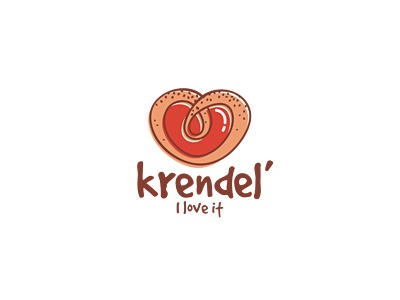 Krendel pretzel love heart tasty 13mu logo bakery cafe