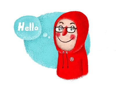 Hello, friends! hello friends dribbble hoodie glasses 13mu