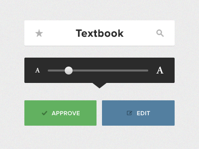 Reader Elements flat elements button slider reader minimal