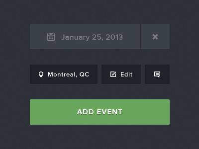 Event listing elements