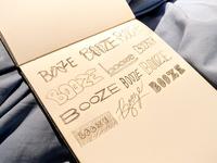 Booze Logo Sketch