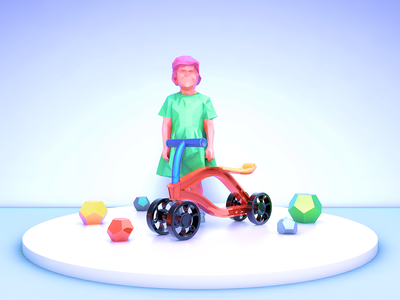 Toy Car and Girl