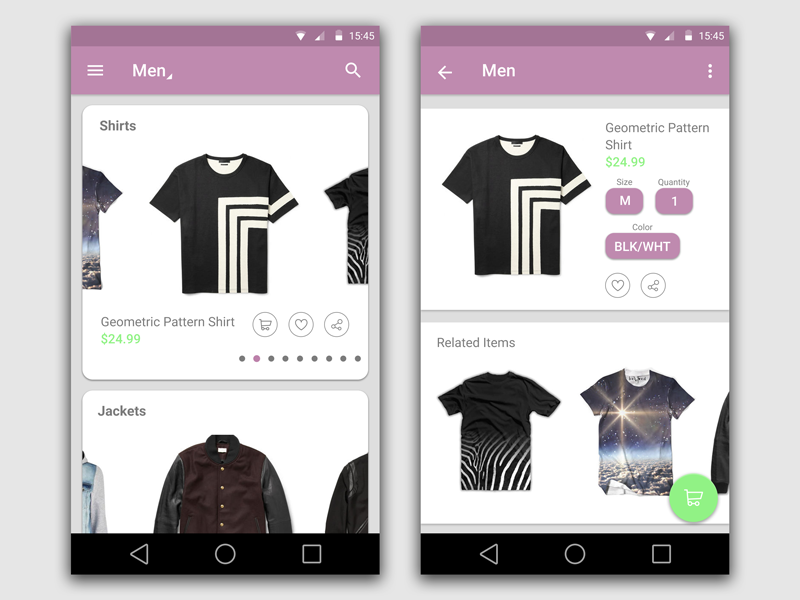 Shopping App Android By Ty Registe Dribbble Dribbble