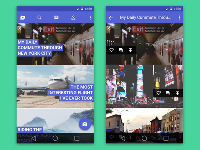 Photo Album App Android  minimal neat clean material design android