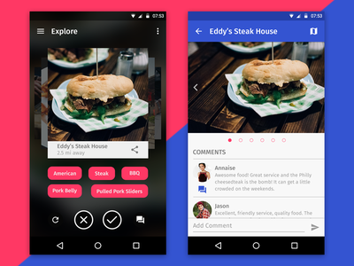 Restaurant Finder Android  minimal neat clean material design android